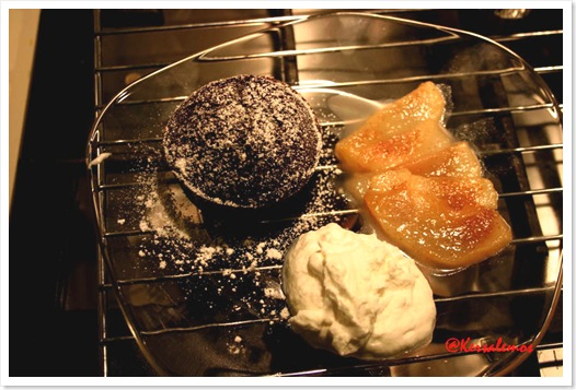 tortino caldo al cioccolato